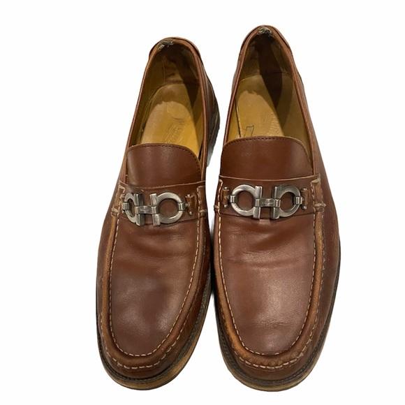 Salvatore Ferragamo Other - Salvatore Ferragamo Brown Leather Slip On Loafers